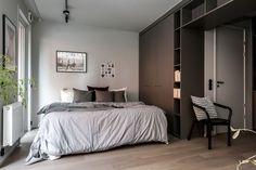 Un studio à l'allure chic et design – toptrendpin. Studio Loft Apartments, Studio Apartment, Small Apartments, Small Spaces, Un Studio, Loft Studio, Studio Design, Scandinavian Bedding, Scandinavian Interior