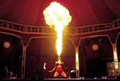 Limbo fire-eater Heather Holliday. The show opened earlier this summer to four-star reviews. It is a dark, sexy hybrid of circus acts and cabaret that mixes acrobats and sword swallowers with live music and break-dancers