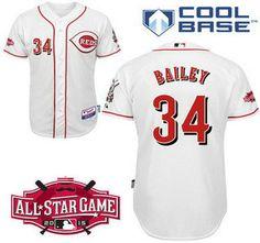 Cincinnati Reds #19 Joey Votto 2015 All-Star Patch White Jersey