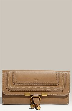 Chloé 'Marcie - Long' Leather Flap Wallet available at #Nordstrom