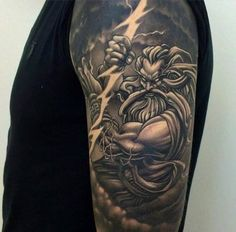 Zeus with a lightning bolt Tattoo Tattoo, Tattooed, Tattoos