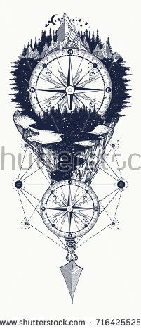 Outdoors tattoo and t-shirt design. Mountains and antique compass tattoo art. Ad… Outdoors tattoo and t-shirt design. Mountains and antique compass tattoo art. Ad… My tattoo Outdoors tattoo and t-shirt design. Band Tattoos, Arrow Tattoos, Foot Tattoos, Body Art Tattoos, Tattoo Drawings, Tattoo Art, Tatoos, Outdoor Tattoo, Best Tattoo Designs