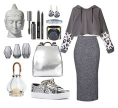 """Hot Hoodies Gray Zen"" by pakshenkova ❤ liked on Polyvore featuring Topshop, adidas, Rebecca Minkoff, Ruxx, Marni, Simon G., Bobbi Brown Cosmetics, Swarovski, Bloomingville and women's clothing"