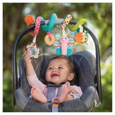 Infantino Baby Stroller Carseat Toy Multicolored