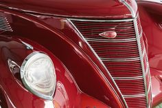 The 1937 Lincoln Zephyr Coupe, shot in Pebble Beach.