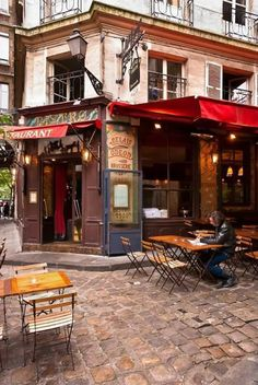 I just want to go sit at this café.