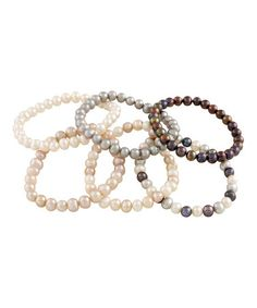 Another great find on #zulily! Pearl Six-Piece Stretch Bracelet Set by Bella Pearl #zulilyfinds