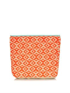 Sophie Anderson Camille woven-cotton clutch