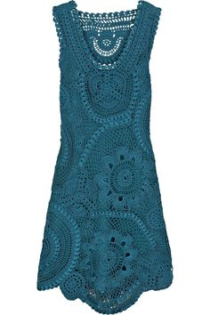 Oscar de la Renta silk crochet dress