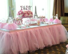 Fairy Birthday Party Ideas. Pink Baby Shower Centerpiece. Paris Themed