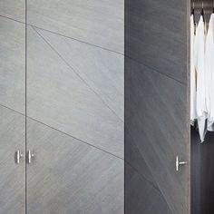 detail of our bespoke, split-veneer wardrobes Interior Design London, Residential Interior Design, Contemporary Interior Design, Joinery Details, Wardrobe Design, The Duff, Minimalist Home, Furniture Collection, Dressing Room