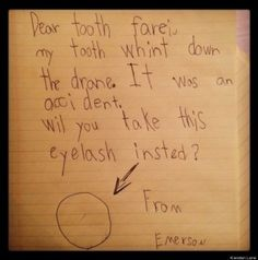 funny kids note...haha.