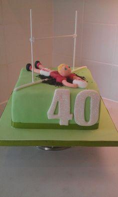 Rugby cake 40th Birthday Cakes, Birthday Ideas, Beautiful Cakes, Amazing Cakes, Cake Cookies, Cupcake Cakes, Rugby Cake, Pie Ideas, Cookie Pie