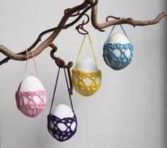 Eiermandjes Patroon in inhaken op de lente