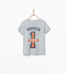 """Image 2 of """"Number 2"""" printed T-shirt from Zara"""