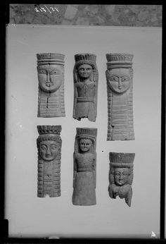 Ivory figurines representing xoanon of Orthia. From the sanctuary of Artemis Orthia in Laconia. 700–600 bce.