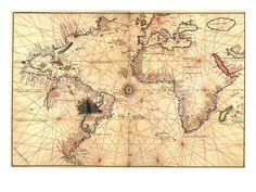 1544 Nautical Map of the Atlantic Ocean Photo at Art.com