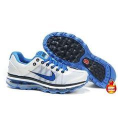 Nike Air Max 2009 Women Mesh Shoes White/Blue Color Air Max 2009, Air Max Sneakers, Sneakers Nike, Nike Air Max, Mesh, Blue, Shoes, Color, Women