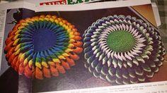 Virkad kudde / Crochet pillow Swedish pattern 2 of 2