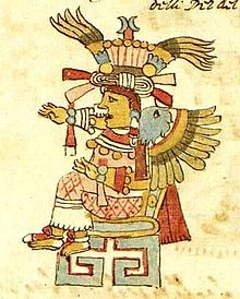 In Aztec mythology, Xochiquetzal (Nahuatl pronunciation:[ʃotʃiˈketsaɬ]), also called Ichpuchtli, was a goddess associated with concepts of fertility, beauty, and female sexual power, serving as a protector of young mothers and a patroness of pregnancy, childbirth, and the crafts practised by women such as weaving and embroidery.