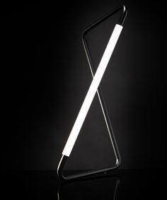 Black Twisted Metal LED Desk Lamp