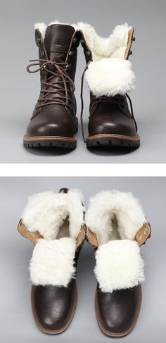 ccc807723fe Natural Wool Men Winter Shoes Warmest Genuine Leather Handmade Men Winter  Snow Boots  YM1568