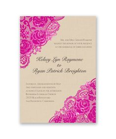 Diamond Lace Roses Glitter Wedding Invitations by David's Bridal: Send guests a wedding invitation they'll remember - our David's Bridal real glitter invitations!