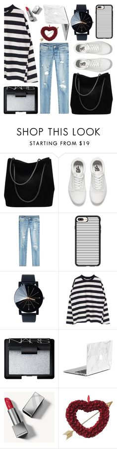 """""""If only You were my Valentine"""" by sweet-jolly-looks ❤ liked on Polyvore featuring Gucci, Vans, True Religion, Casetify, NARS Cosmetics, Burberry, casual, love, february and crush"""