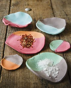 Paper Clay Spice Bowls