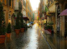 ... la mia Roma con la pioggia...