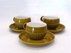 Langley Patrician coffee cups & saucers  1970s by TeasAndCoffees