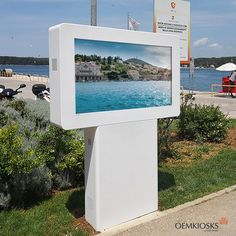 We make premium digital kiosks. We are proud to continue manufacturing high quality digital kiosks and billboards for indoor and outdoor with more than 20 years of experience. Digital Kiosk, Digital Signage, Rovinj Croatia, Outdoor Signs, Billboard, Multimedia, Innovation, Tourism, City