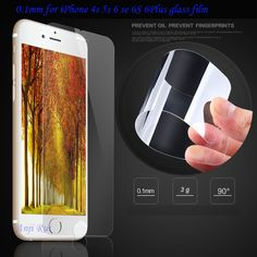 awesome 0.1mm 9H High Quality Tempered Glass for iPhone 6 6 plus 5.5 inch protective film 2.5D rounded edge 6s 4s 5s screen protector