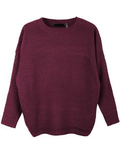 34906806a6 LE3NO Womens Round Neck Dolman Sleeve Knit Pullover Sweater (CLEARANCE)