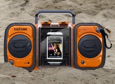 Eco Terra Waterproof Boombox / A complete kit now awaits to be your ideal companion during water expeditions in the form of this Eco Terra Waterproof Boombox. http://thegadgetflow.com/portfolio/eco-terra-waterproof-boombox/