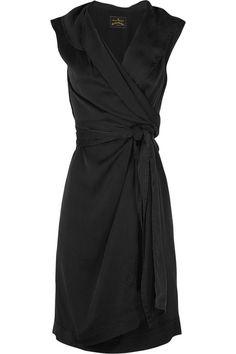 Black sleeveless shirt dress... simple yet elegant