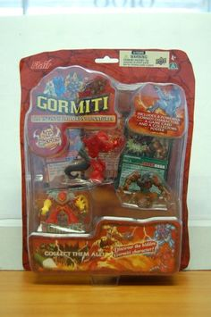 Gormiti the Invincible Lords of Nature Ser1(insecticus, Magmion, the Wise Destroyer) Flair