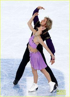 Meryl Davis & Charlie White (United States) skate during the Free Dance at the 2014 Sochi Olympics