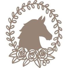 Silhouette Design Store - Home Silhouette Images, Silhouette Design, Silhouette America, Silhouette Files, Diy Arts And Crafts, Crafts To Make, Paper Crafts, Horse Flowers, Horse Sketch