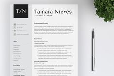 Welcome to SalientDesign! We design professional, creative and unique resume templates. Our goals are to save your time and keep your resume clean / One Page Resume Template, Page Template, Resume Templates, Design Templates, Cover Letter For Resume, Cover Letter Template, Letter Templates, Student Cv Examples, Free Resume Examples