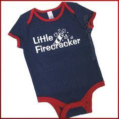 4th of July LITTLE FIRECRACKER baby