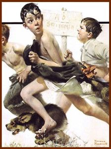 Norman Rockwell: No Swimming 1921