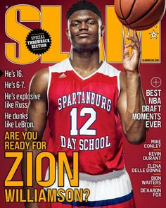 Zion Williamson is featured on the cover of the latest SLAM Magazine - Magazine Cover Basketball Scoreboard, Basketball Workouts, Basketball Funny, Love And Basketball, Basketball Legends, Duke Basketball, Basketball Players, Basketball Skills, Nba Background