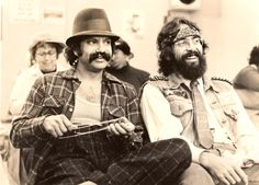 #cheech #chong #pothead #weed #cinema #stars #genius #vintage #sepia #hippie #70s