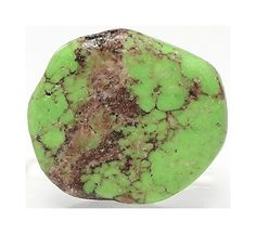 Rare Gaspeite Rustic Apple Green Drilled Gem by FenderMinerals