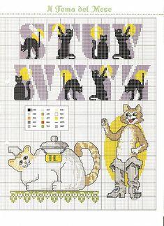Alfabeto con gattini neri schema punto croce (2)