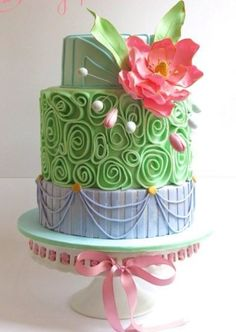 Perfect whimsical garden-party birthday cake!