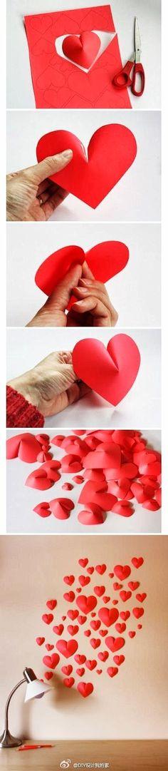 DIY 3D hearts