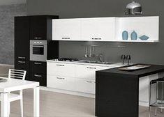 Risultati immagini per cucine con forno rialzato Kitchen Island, Kitchen Cabinets, Mamma, Home Decor, Oven, Island Kitchen, Decoration Home, Room Decor, Cabinets