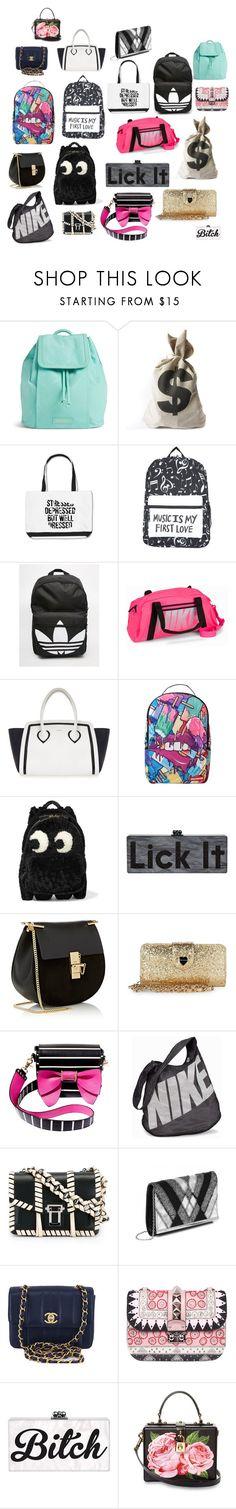 """sacs"" by sarah-mimi on Polyvore featuring mode, Vera Bradley, adidas, NIKE, Furla, Sprayground, Anya Hindmarch, Chloé, Betsey Johnson et Proenza Schouler"